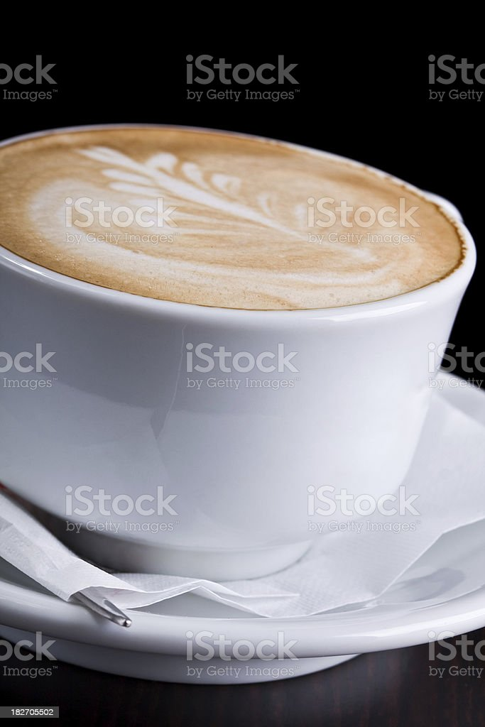 Cappuccino with decoration royalty-free stock photo