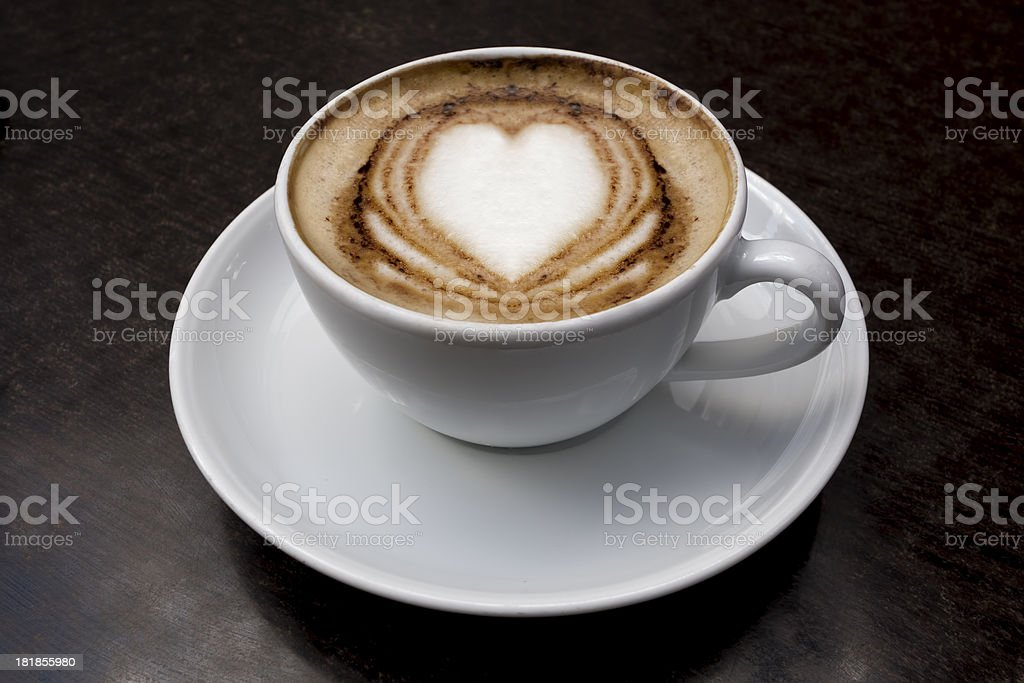 Cappuccino With Heart Shape royalty-free stock photo