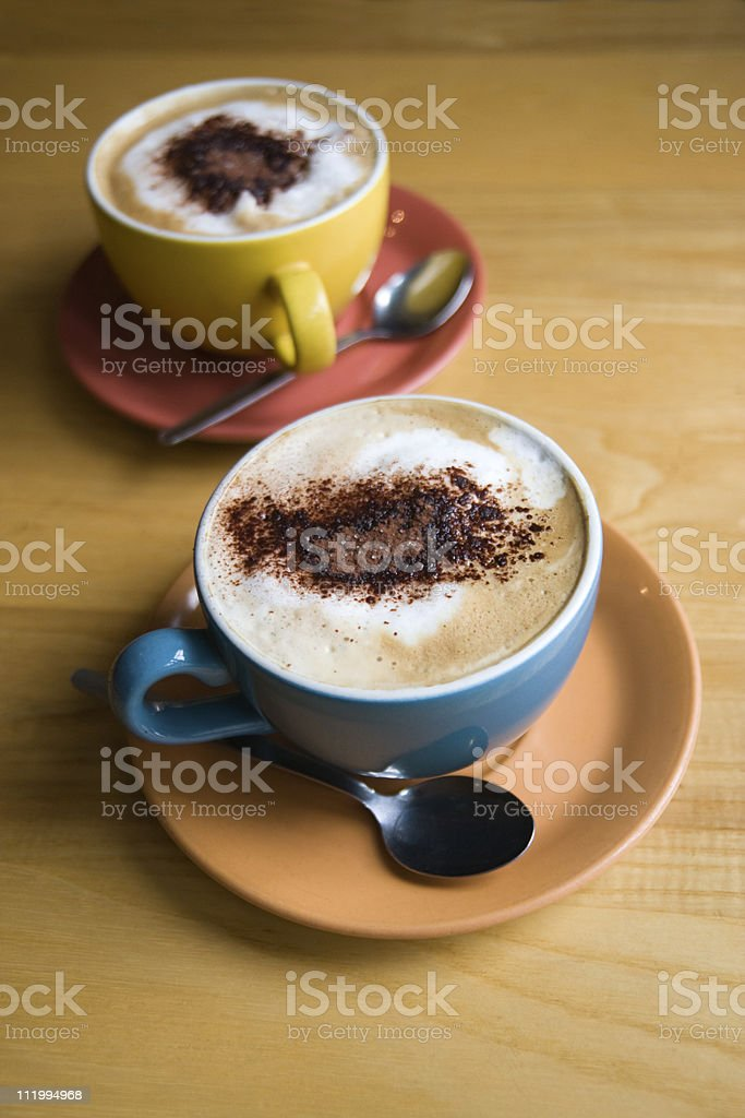 Cappuccinos royalty-free stock photo