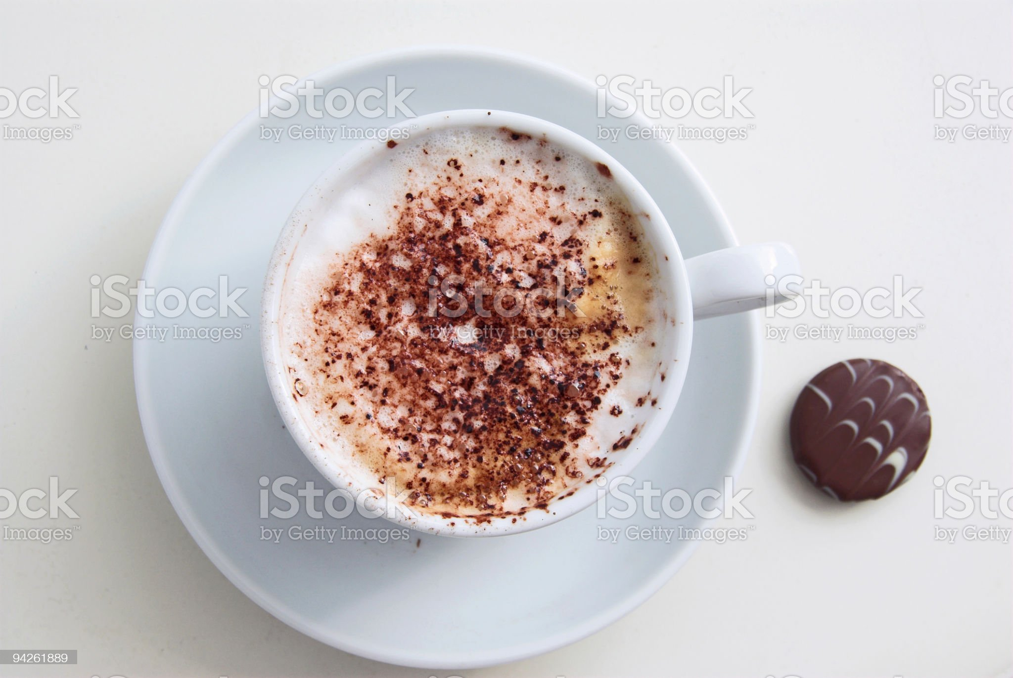 cappucino and chocolate royalty-free stock photo