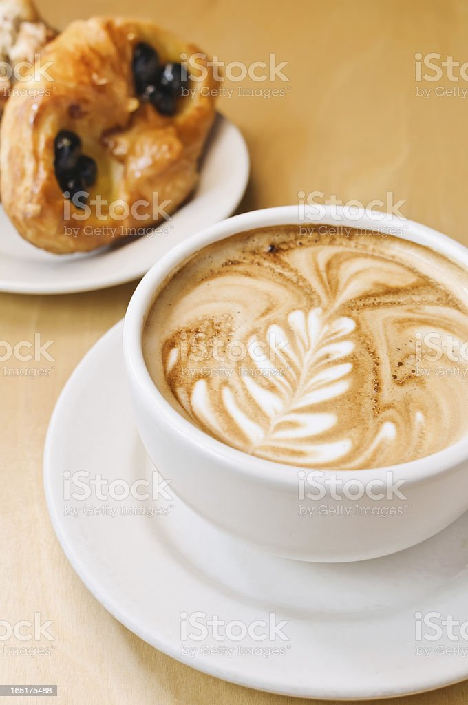 Cappucino And Pastries royalty-free stock photo