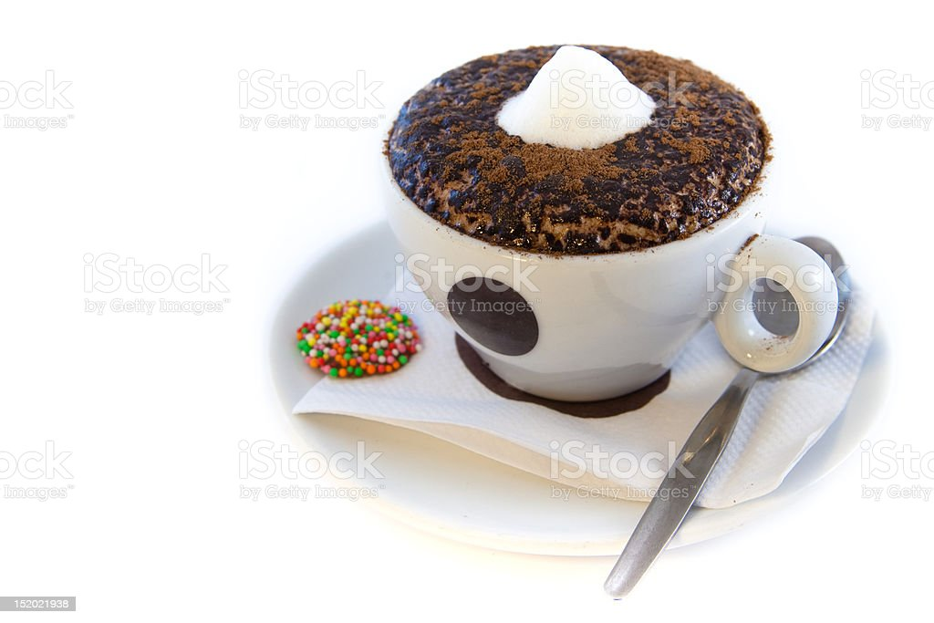 Cappucino cup stock photo
