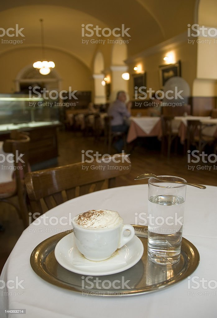 Cappucino in a Vienna Cafe royalty-free stock photo