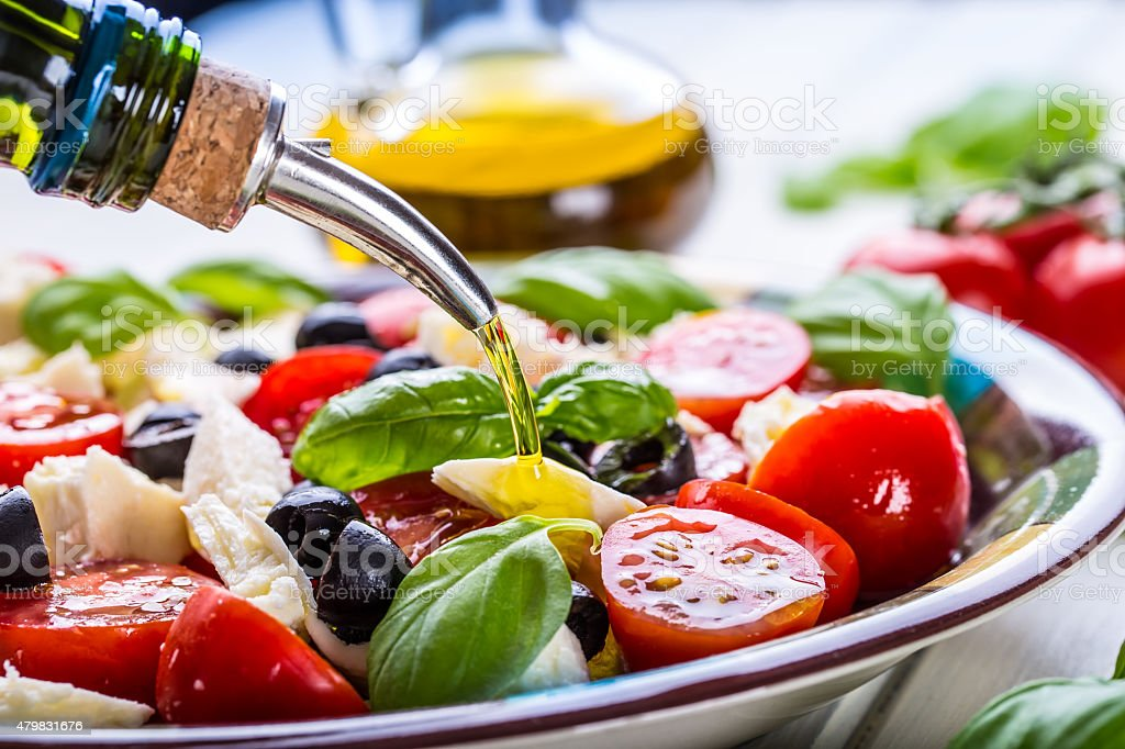 Caprese. Caprese salad. Italian salad. Mediterranean salad. Italian cuisine. stock photo