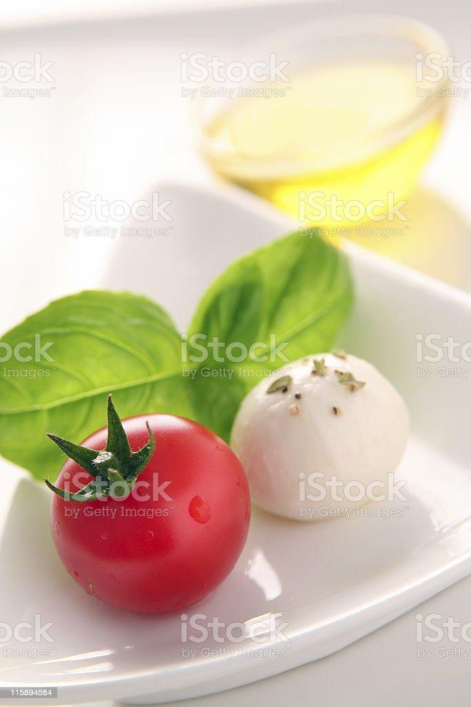 Caprese salad ingredients royalty-free stock photo