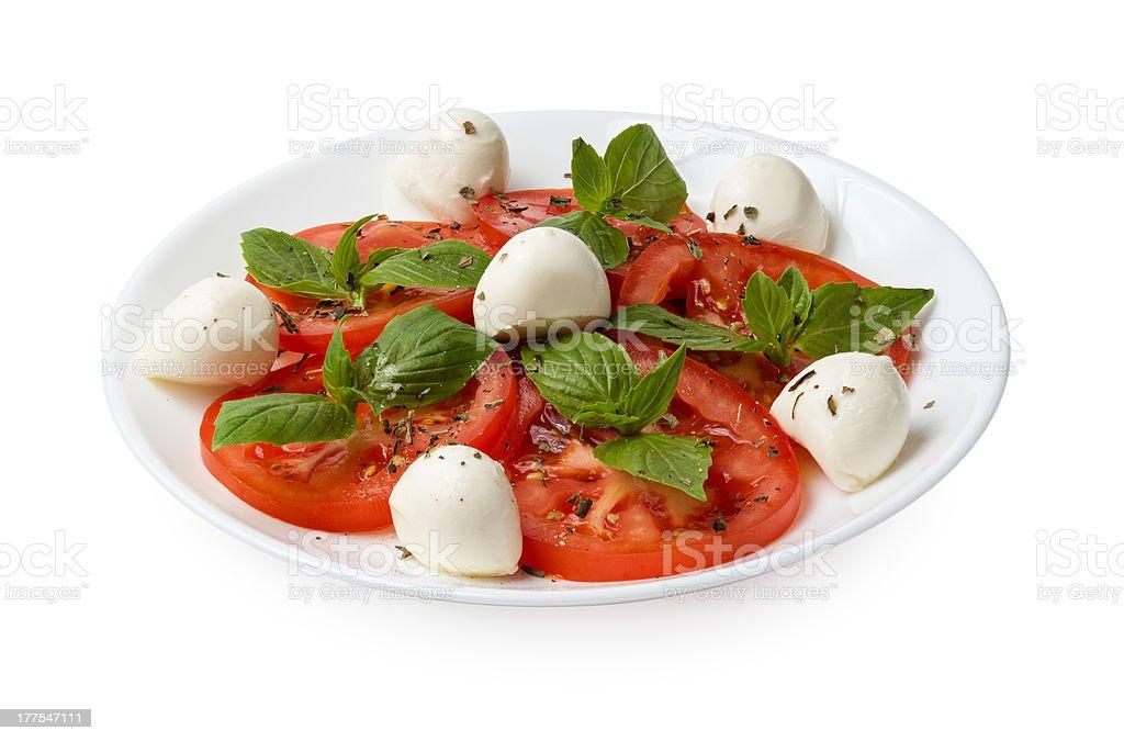 caprese salad on plate royalty-free stock photo