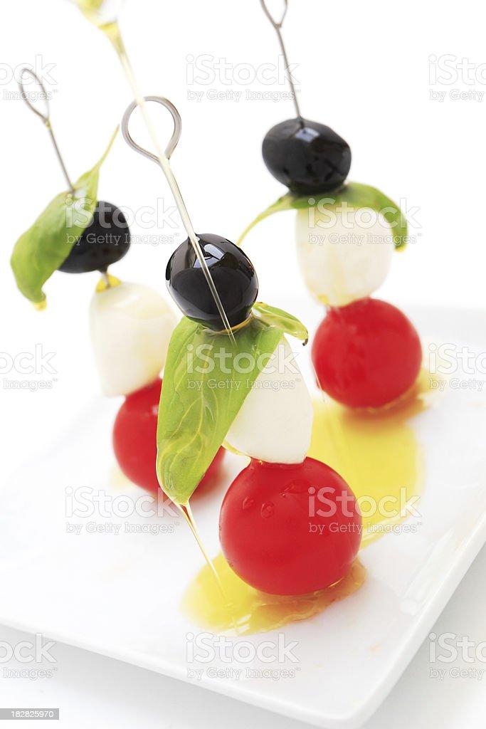 Caprese salad sticks. royalty-free stock photo