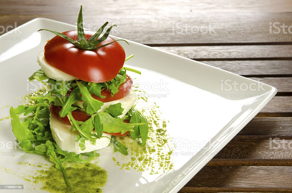 Caprese salad, traditional italian appetizer royalty-free stock photo