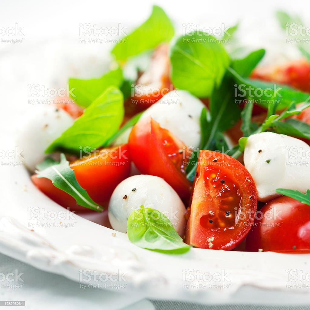 Caprese Salad with Rocket royalty-free stock photo