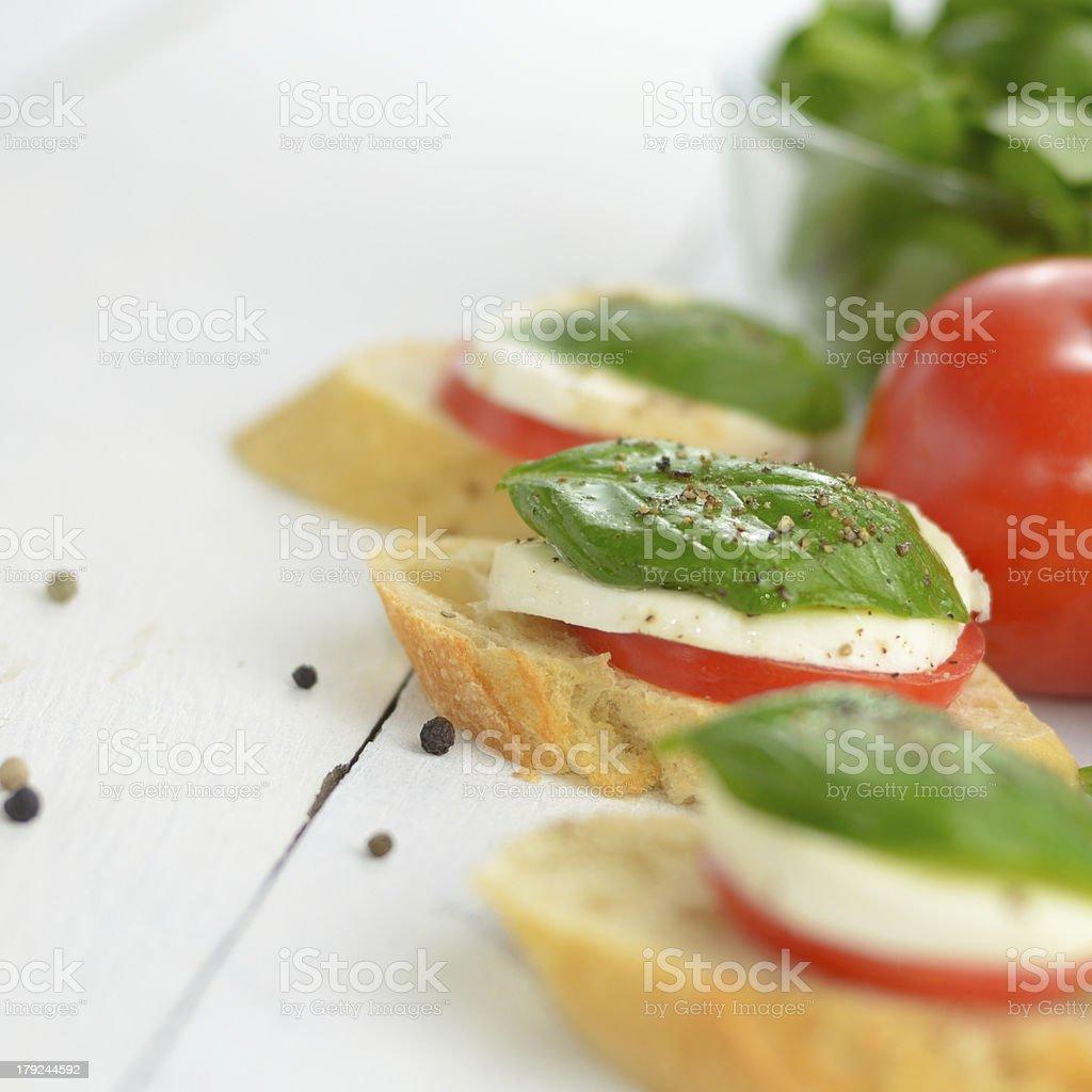 Caprese sandwiches royalty-free stock photo