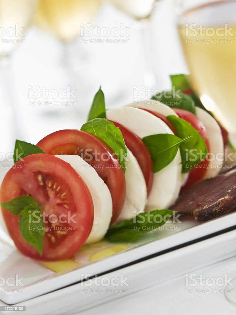 caprese skewers... royalty-free stock photo