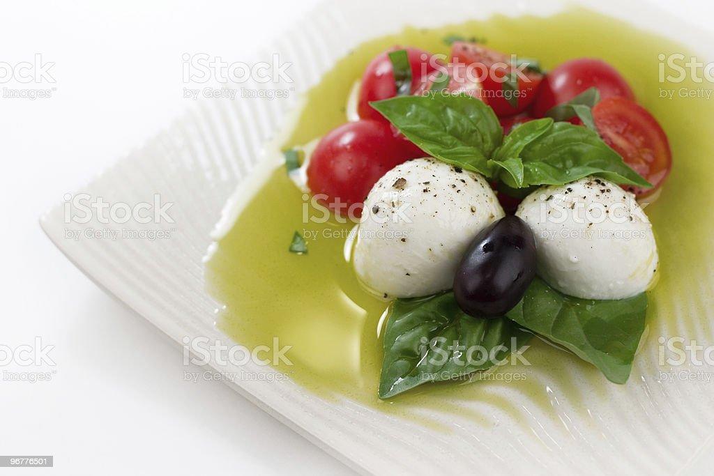Caprese Style Salad stock photo