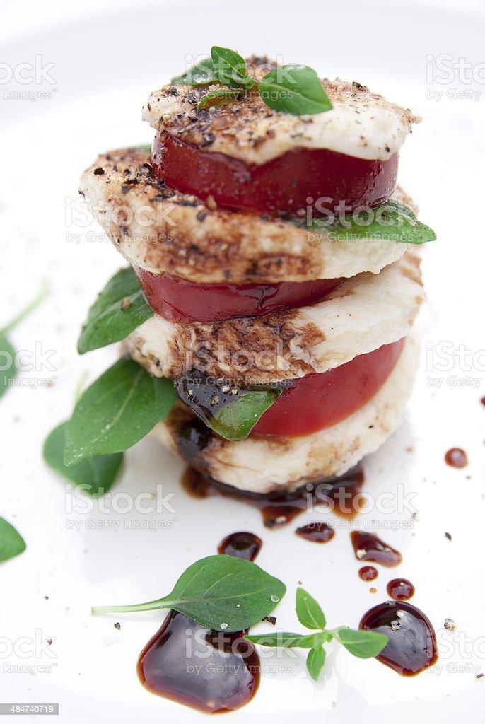 Caprese Tomato Salad royalty-free stock photo
