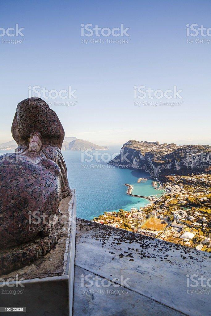 Capri, Anacapri,  Villa San Michele, Italy royalty-free stock photo