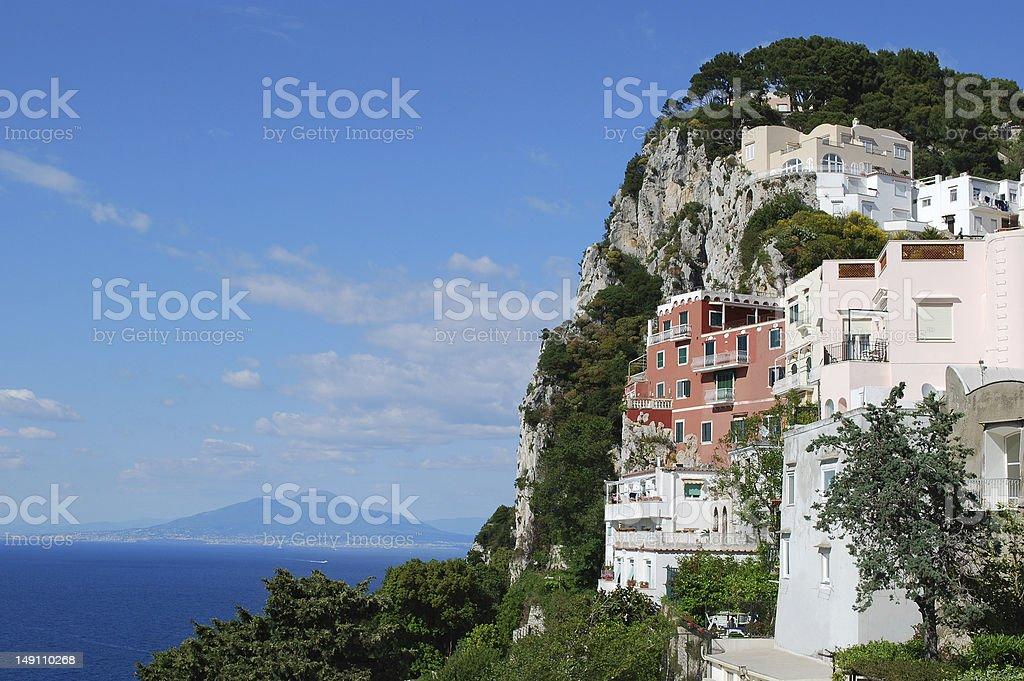 Capri Buildings stock photo