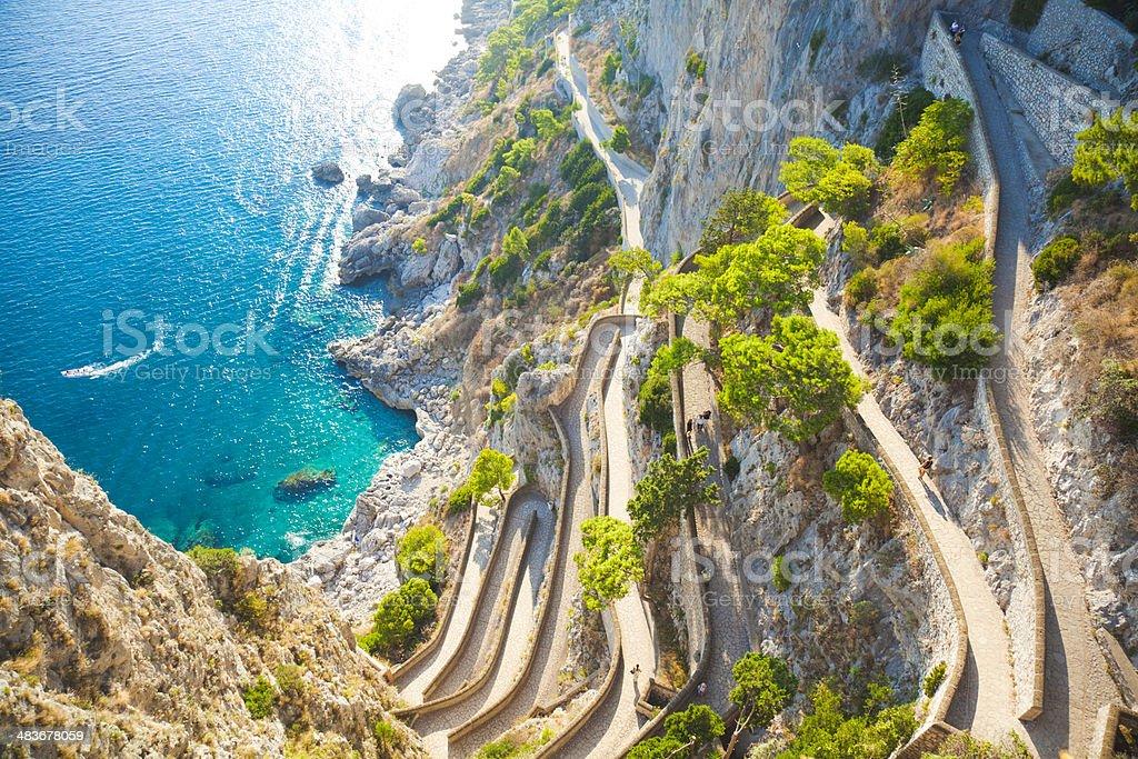 Capri coast stock photo