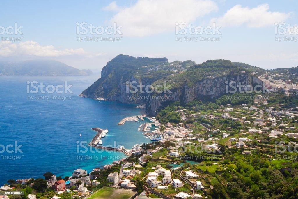 Capri coast view stock photo