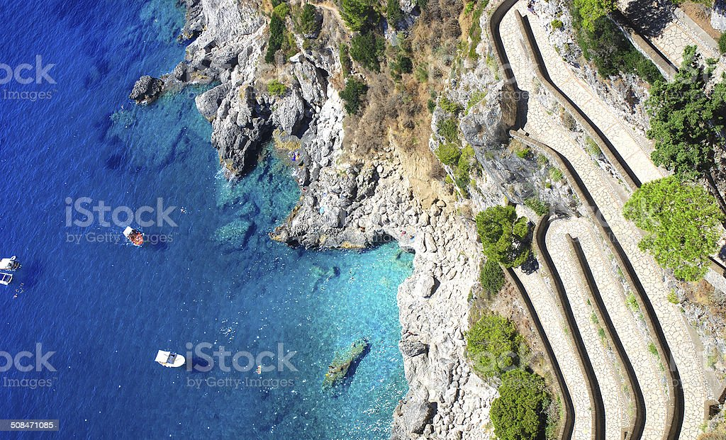 Capri island, Italy stock photo
