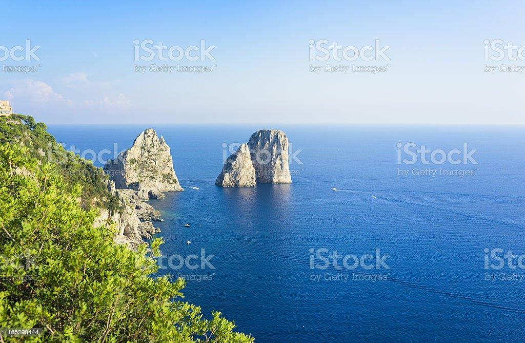 Capri Island stock photo