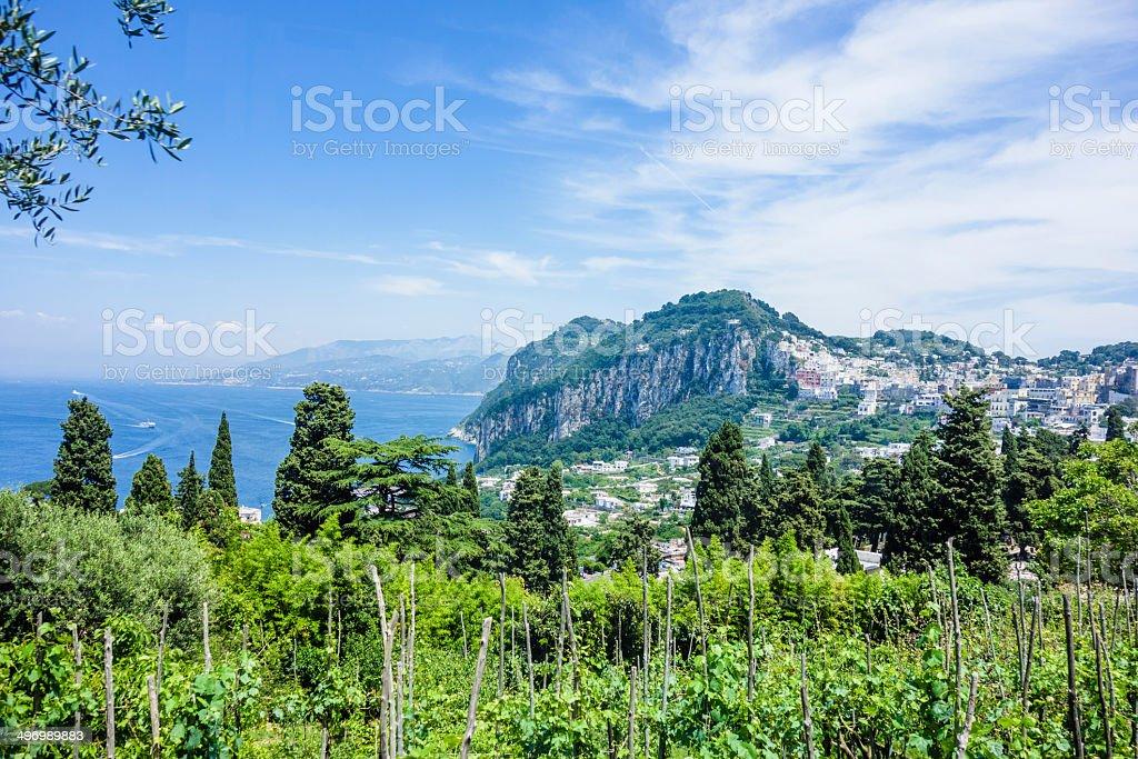 Capri Island View, Italy stock photo
