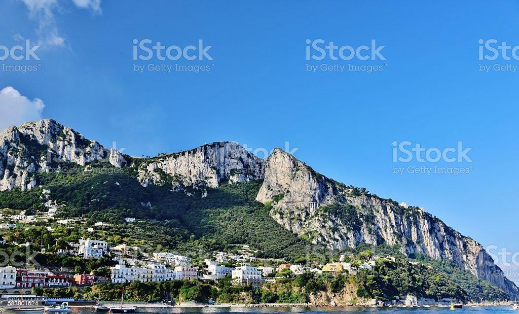 Capri, Italy-Solaro Mountains stock photo