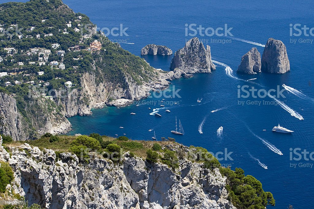 Capri, Naples, Italy stock photo