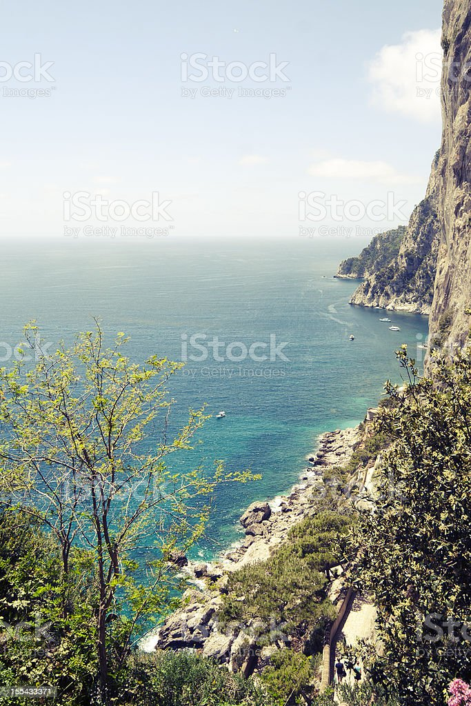Capri, via Krupp stock photo