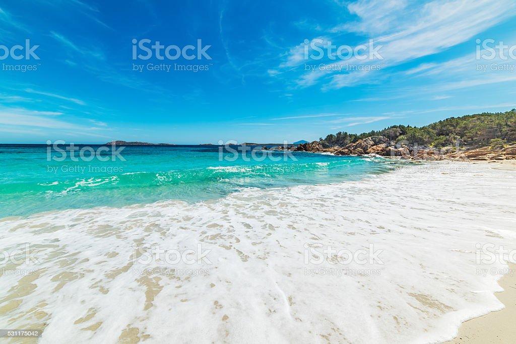 Capriccioli beach in Costa Smeralda stock photo