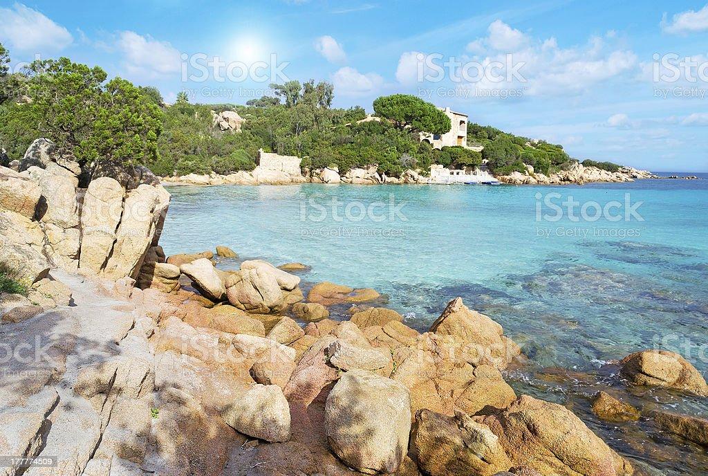 Capriccioli beach stock photo