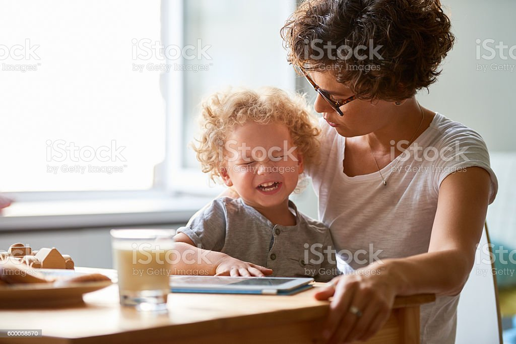 Capricious child stock photo