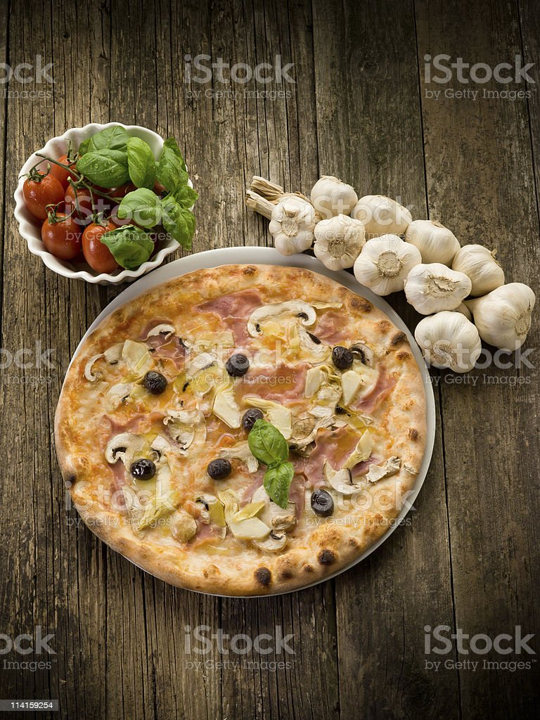 pizza capricciosa royalty-free stock photo