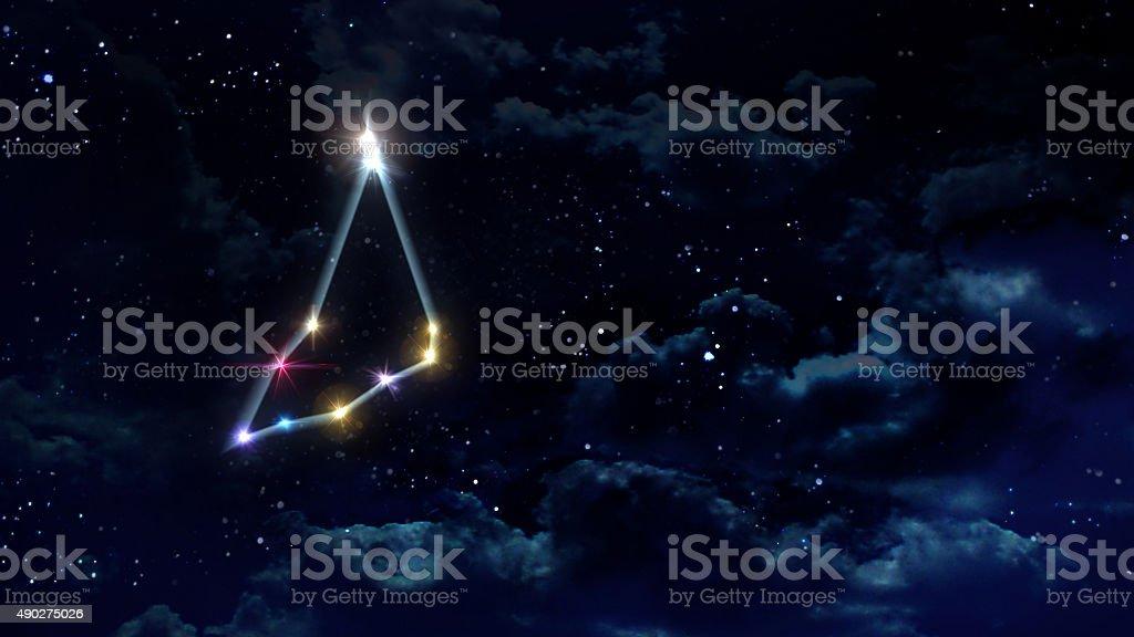 10 Capricorn Horoscope night stock photo