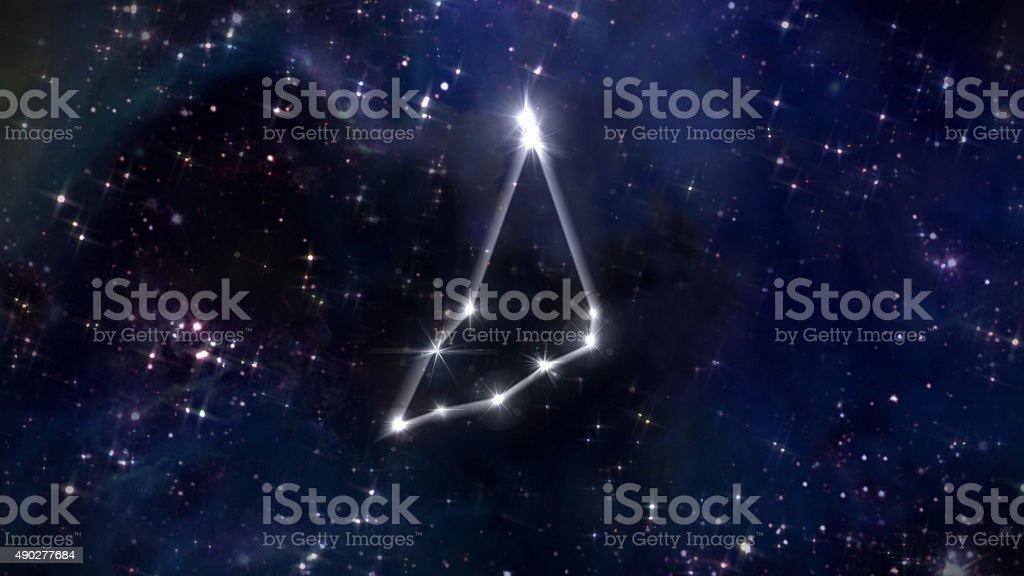Capricorn Horoscope star white stock photo