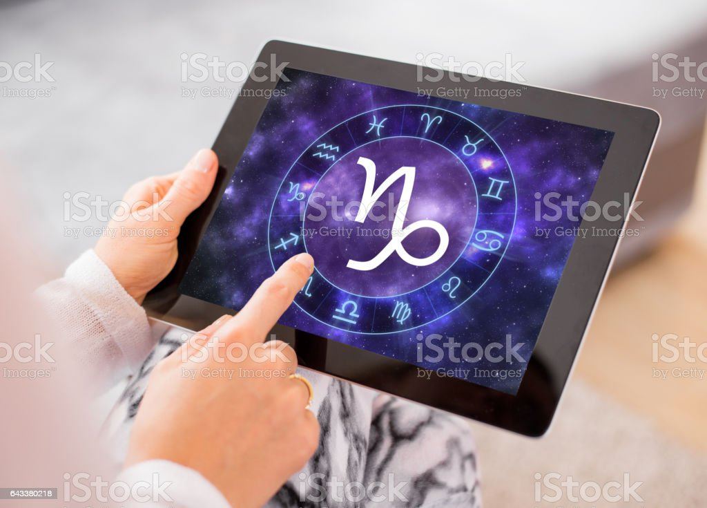 Capricorn zodiac sign stock photo