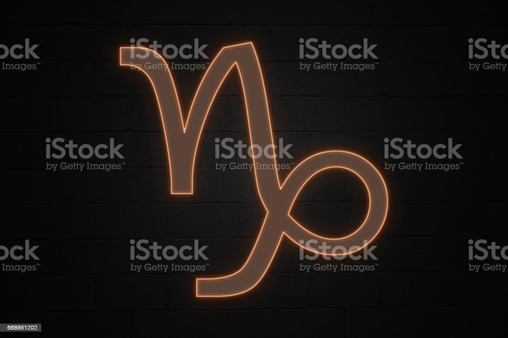 Capricorn - Zodiac sign stock photo