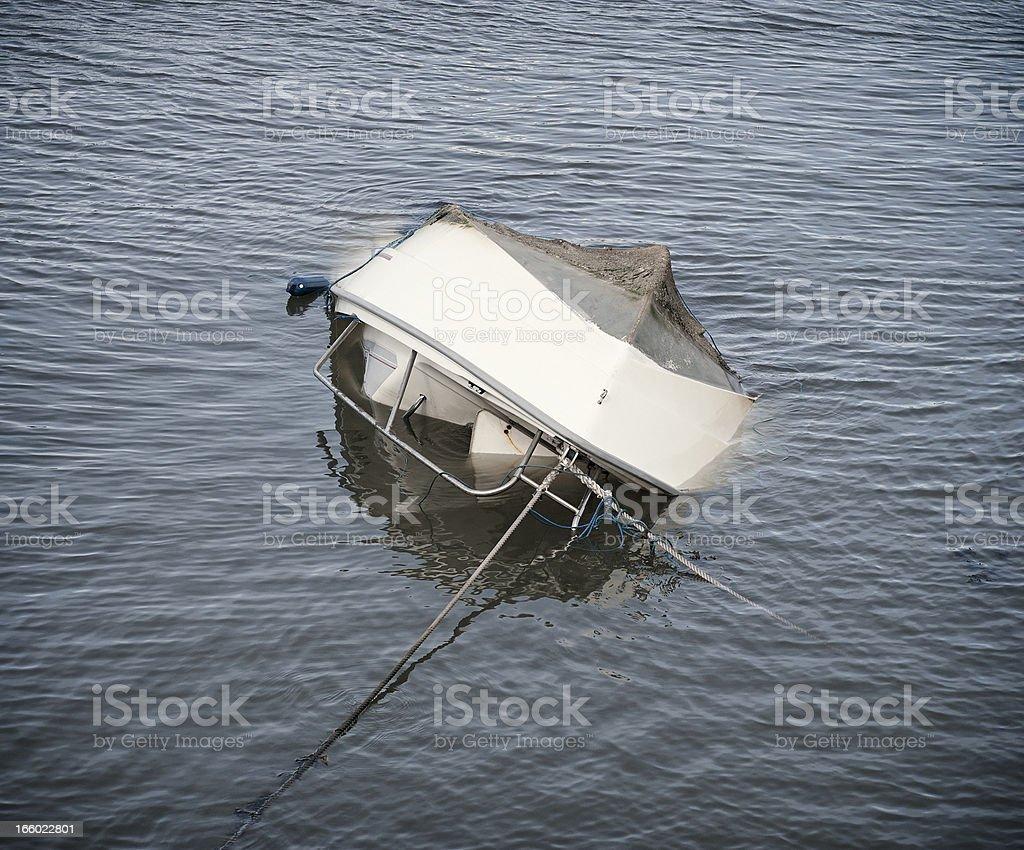 Capsized Boat stock photo