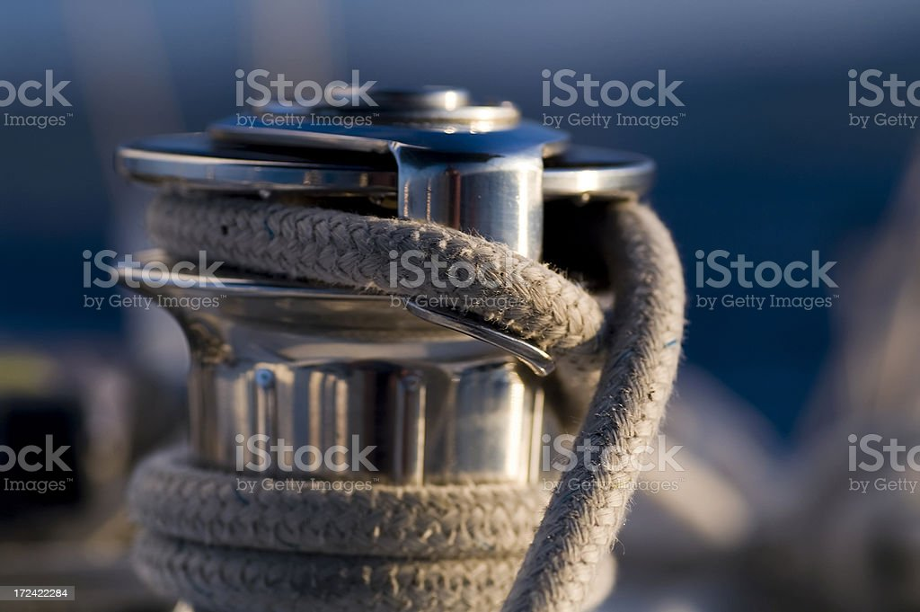 Capstan, Sailing in Croatia royalty-free stock photo
