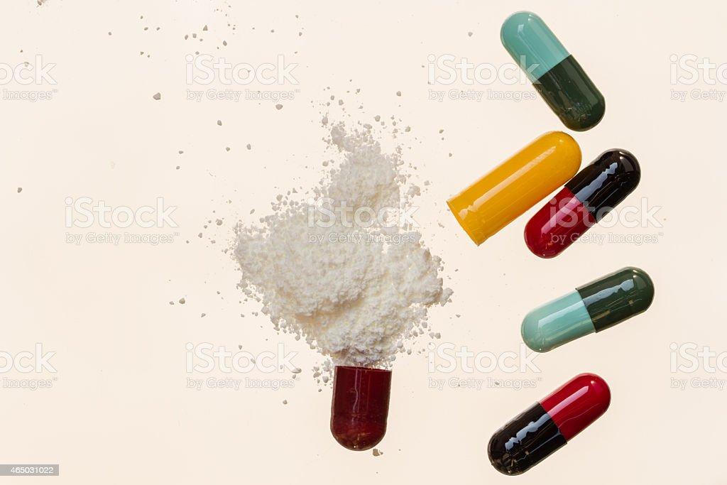 capsule : drug royalty-free stock photo