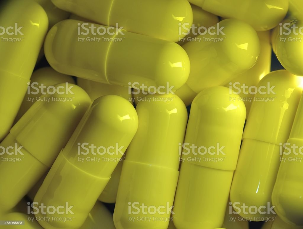 Capsule medicine closeup royalty-free stock photo