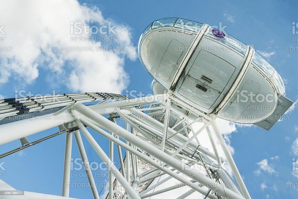 Capsule of Millenium Wheel, Thames South Bank, London, UK royalty-free stock photo