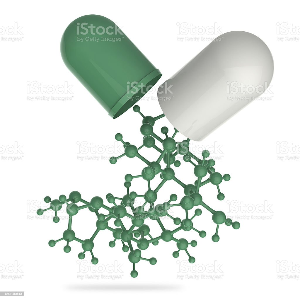 capsule shows 3d molecule royalty-free stock photo