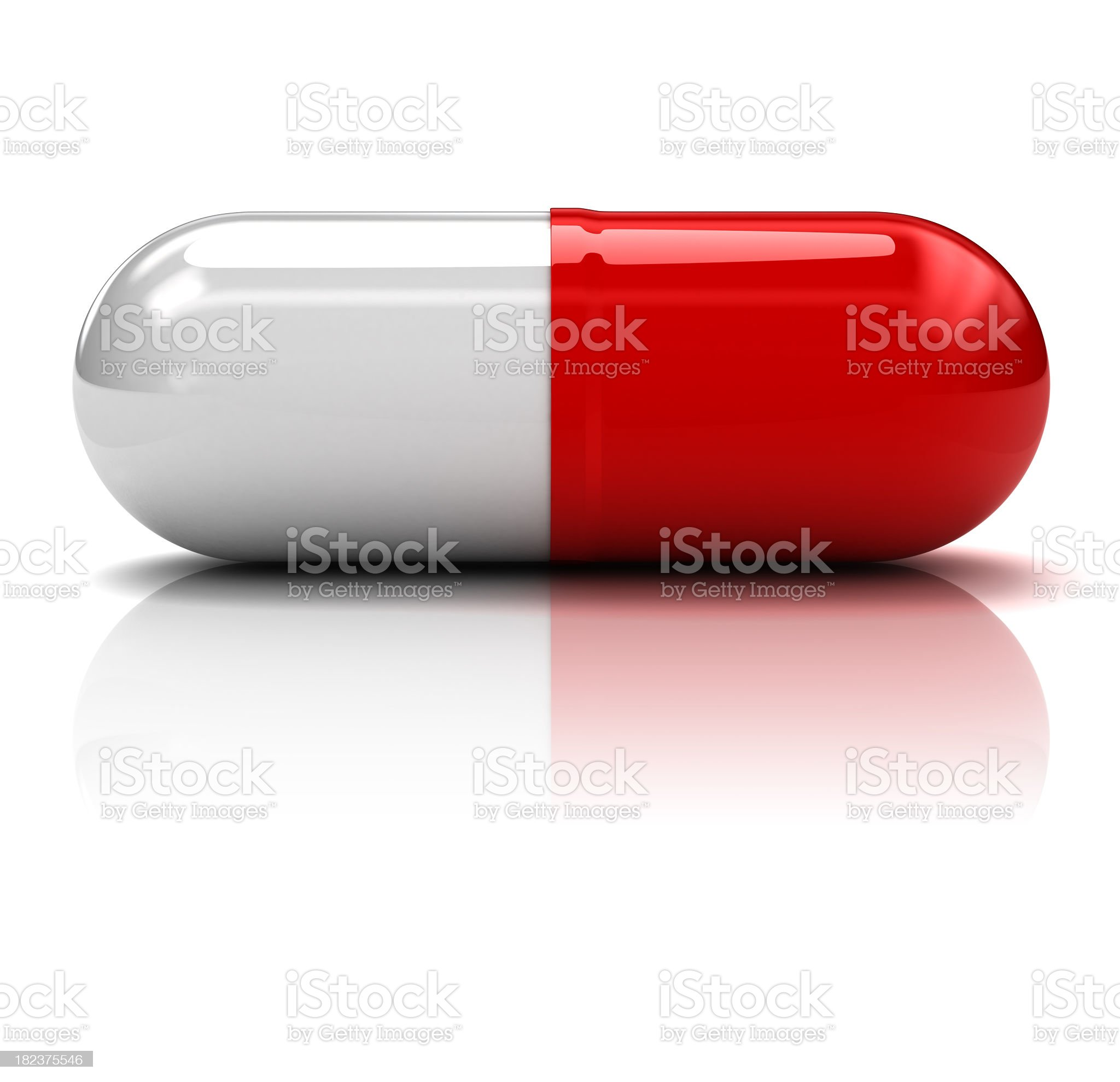 Capsule with red and white halves royalty-free stock photo