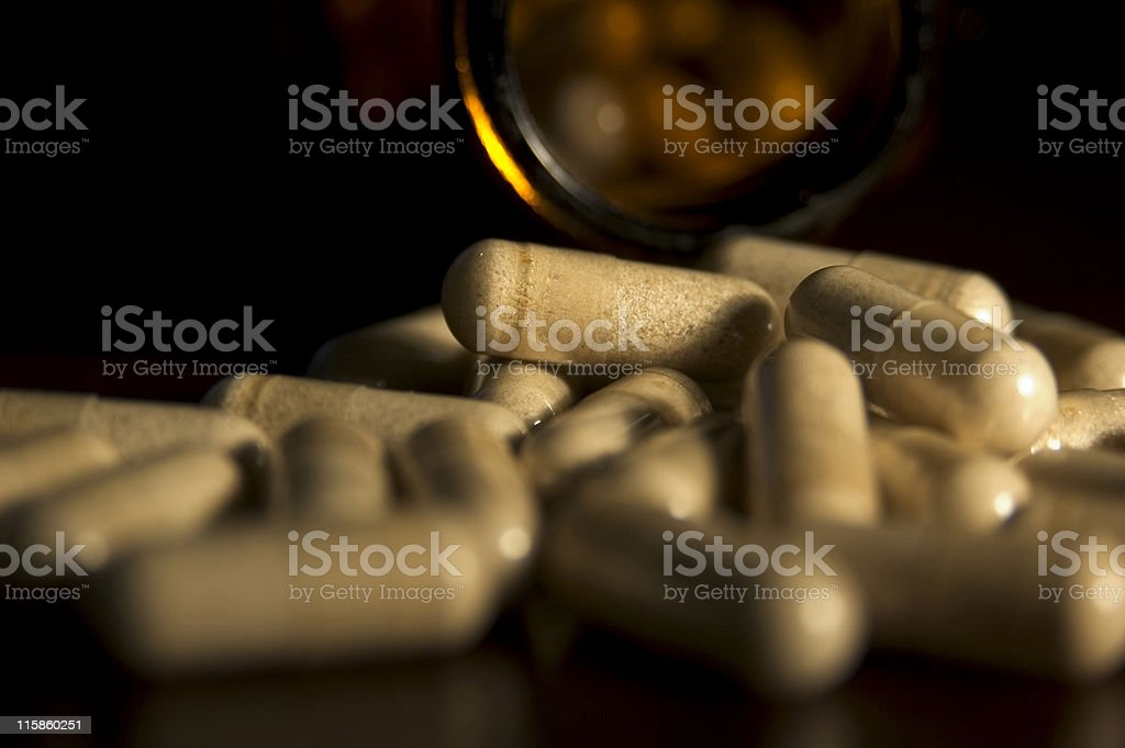 Capsules close up royalty-free stock photo