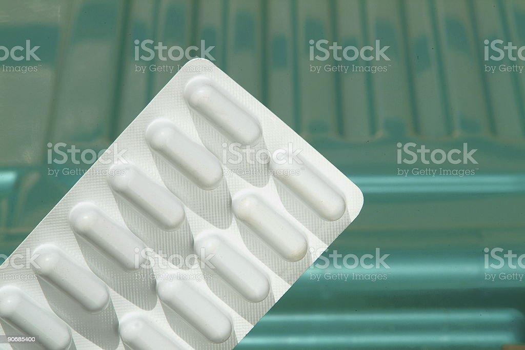 Capsules sealed stock photo