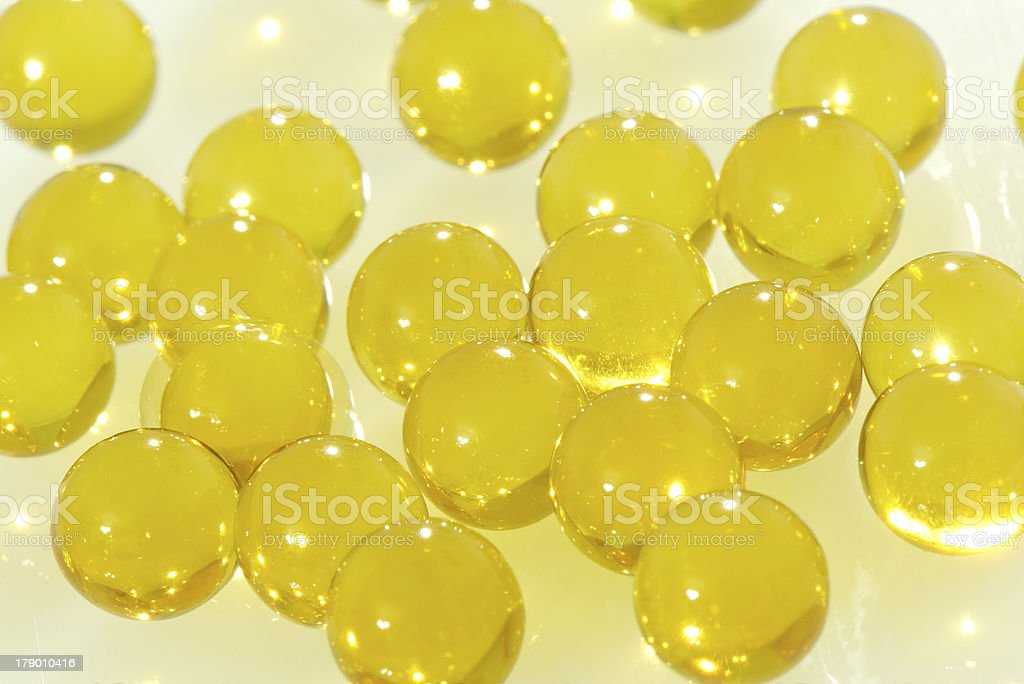 Capsules with vitamin A and E royalty-free stock photo