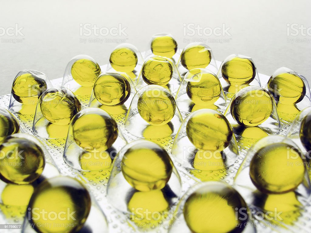capsules with vitamin - A royalty-free stock photo