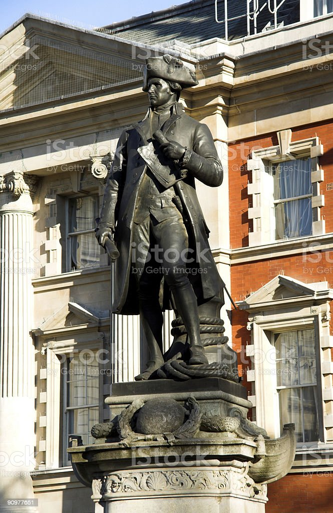Captain Cook Statue royalty-free stock photo