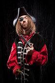 Captain Hook Pirate Buccaneer Man flintlock pistol historical garb