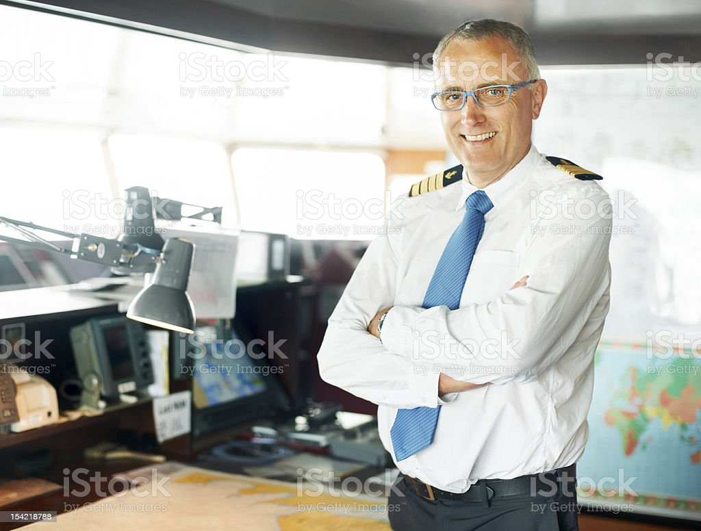 Captain in command stock photo