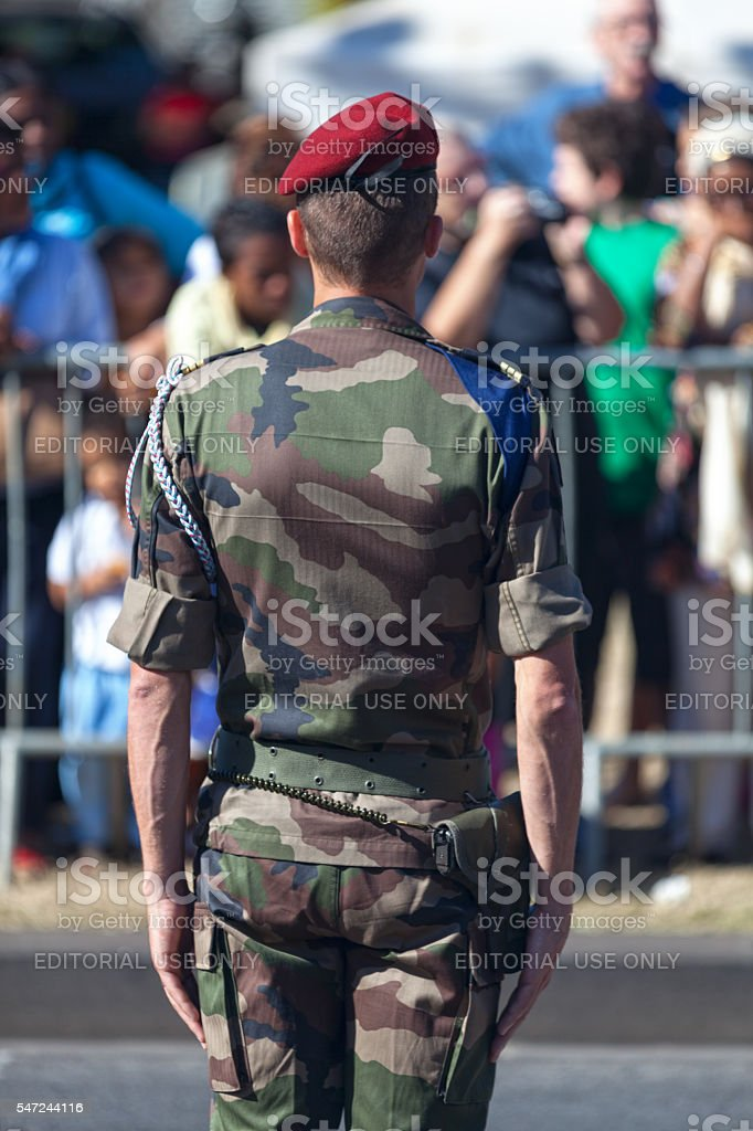 Captain of French Army stock photo
